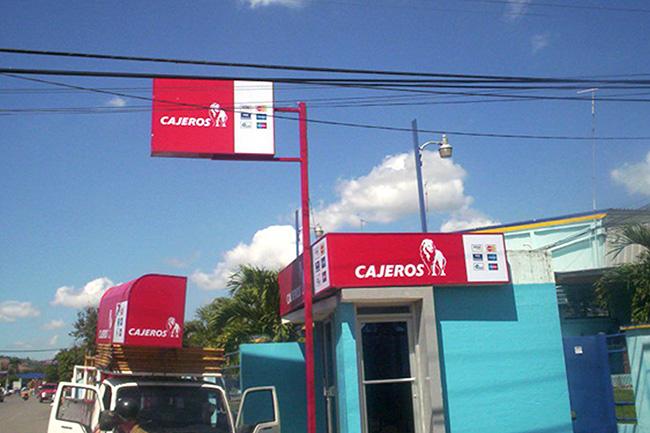 Letrero banco for Banco exterior empleo caracas